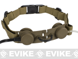 Bravo Airsoft Throat Mic w/ PTT (Color: Dark Earth / Motorola Talkabout)