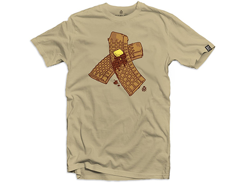 Black Rifle Division Waffle Mag Graphic T-Shirt (Color: Sand / Medium)
