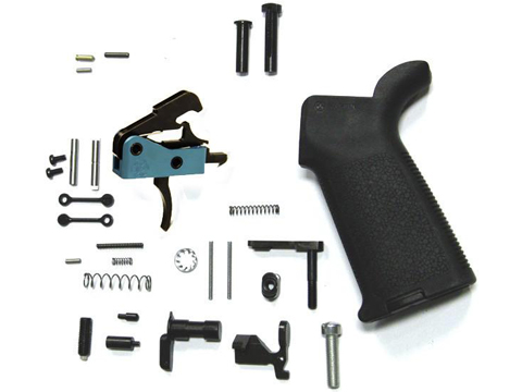 Black Rain Ordnance Lower Parts Kit for AR15 Rifles (Type: MOE Grip with DIT Trigger)