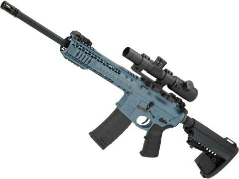 EMG Custom Cerakote Black Rain Ordnance BRO M4 SPEC15 Airsoft AEG by King Arms (Color: Blue Titanium / Urban)