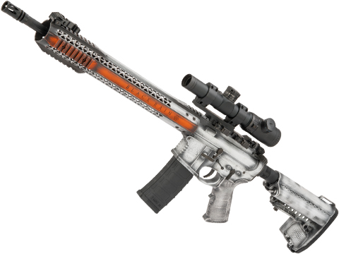 EMG Custom Cerakote Black Rain Ordnance BRO M4 SPEC15 Airsoft AEG by King Arms (Color: Storm Trooper / Force)