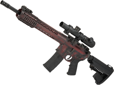 EMG Custom Cerakote Black Rain Ordnance BRO M4 SPEC15 Airsoft AEG by King Arms (Color: Deadpool / Recon)
