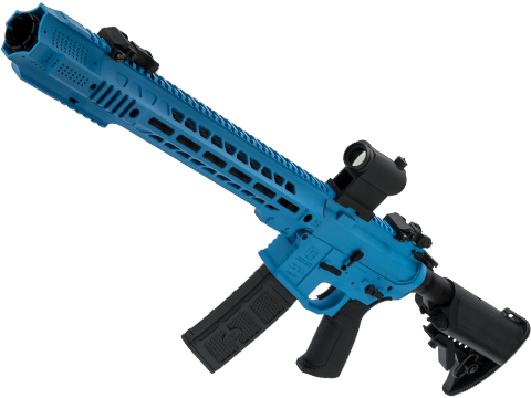 EMG / SAI GRY AR-15 AEG Training Rifle w/ JailBrake Muzzle w/ Black Rain Ordnance Custom Cerakote (Model: Carbine / Smurf Blue)