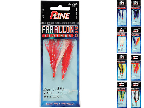 P-Line Farallon Feathers Vertical Fishing Jigs