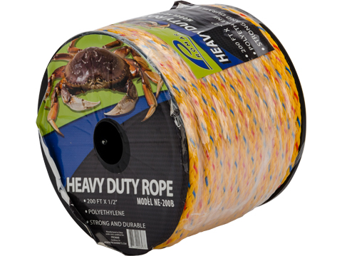 Promar Braided Polyethylene Crab / Lobster Trap Rope (Type: 1/2 Diameter / 200ft / Yellow)
