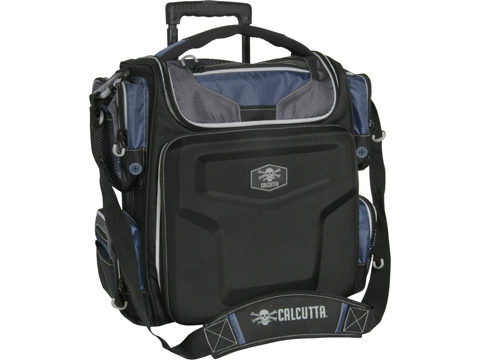 Calcutta CERTB Explorer Rolling Tackle Bag with 5 3700 Lure Trays