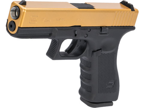 Elite Force Fully Licensed GLOCK 17 Gen.4 Gas Blowback Airsoft Pistol w/ Black Sheep Arms Custom Cerakote (Color: Gold Slide)
