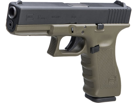 Elite Force Fully Licensed GLOCK 17 Gen.4 Gas Blowback Airsoft Pistol w/ Black Sheep Arms Custom Cerakote (Color: OD Green Frame)