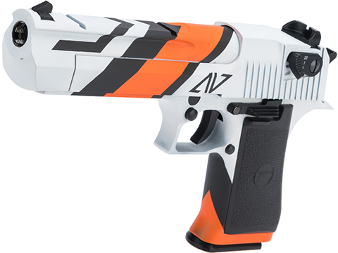 Magnum Research Licensed Semi/Full Auto Metal Desert Eagle CO2 Gas Blowback Airsoft Pistol by KWC w/ Black Sheep Arms Custom Cerakote (Color: New Asiimov)