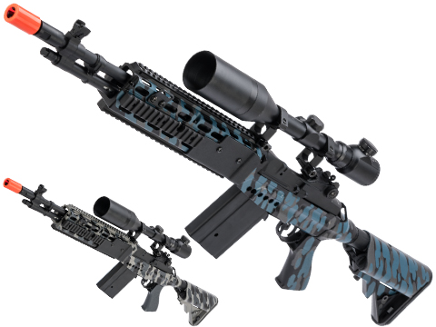 CYMA Sport Full Metal M14 EBR Designated Marksman Rifle Airsoft AEG w/ Black Sheep Arms Custom Cerakote
