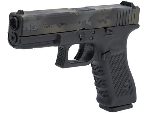Elite Force Fully Licensed GLOCK 17 Gen.4 Gas Blowback Airsoft Pistol w/ Black Sheep Arms Custom Cerakote (Color: Multicam Black Slide)
