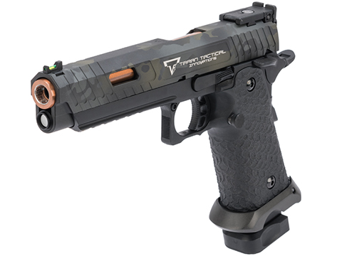 EMG STI / TTI Licensed JW3 2011 Combat Master Airsoft Training Pistol w/ Black Sheep Arms Custom Cerakote (Type: Green Gas Mag / Multicam Black Slide)