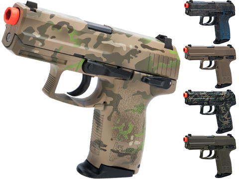 Heckler & Koch USP Compact NS2 Airsoft GBB Pistol by KWA w/ Black Sheep Arms Custom Cerakote (Color: 7 Color Multicam)