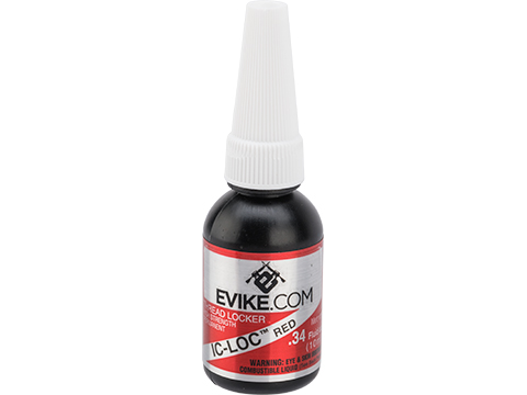 Evike.com IC-Loc High Strength Permanent Red Thread Locker (Size: 10 ml)