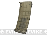 CYMA FlashMag Hi-Cap Magazine for AK Series Airsoft AEG Rifles (Color: Translucent / 520rd / Bulgarian-Style)