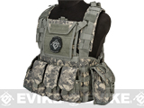 Matrix Tactical Systems Modular Chest Rig w/ Full Pouch Set (Color: ACU)