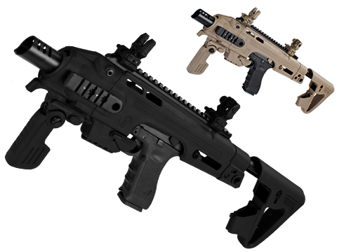 CAA Airsoft Roni Pistol Carbine Conversion Kit for G-Series Airsoft GBB Pistols (Color: Black)