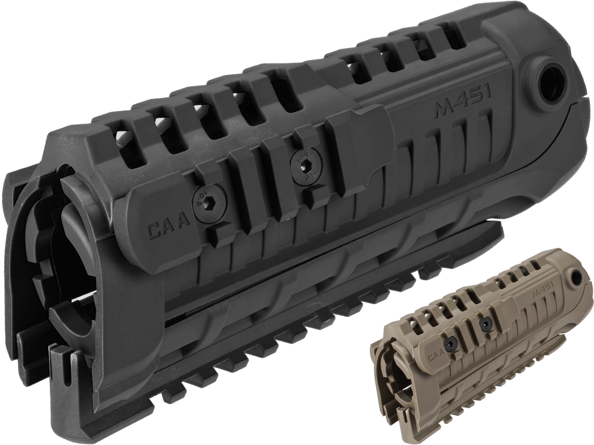 CAA Airsoft M4S1 Handguard Rail System (Color: Black)