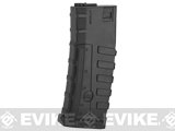 Command Arms CAA Licensed 140rd Mid-Cap Magazine for M4 M16 AEG by King Arms - Black (Single)