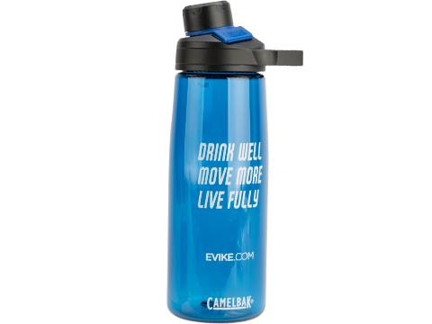 CamelBak� x Evike.com Chute Mag 25oz .75L Water Bottle (Design: Drink, Move, Live / Blue)