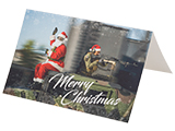 Evike.com Merry Christmas Holiday Greeting Card - Tactical Santa & Helper