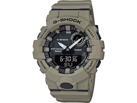 Casio G-SHOCK Power Trainer Digital and Analog Watch (Color: Tan)
