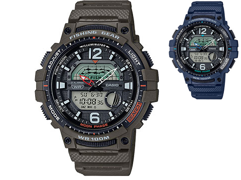 Casio G-Shock Sport WSC1250H Men's Fishing Watch (Color: Green)