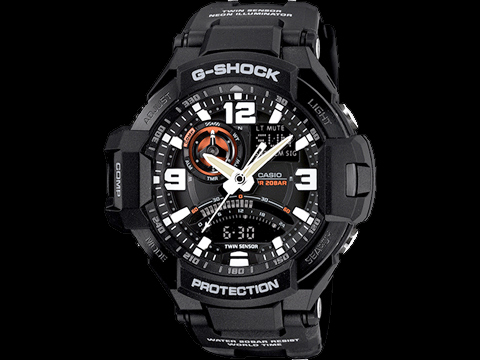 G-Shock GA-1000-1A Gravity Master Master of G Watch (Color: Black)