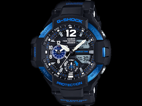 G-Shock Men's GA-1100 Gravitymaster Master of G Pilots Watch