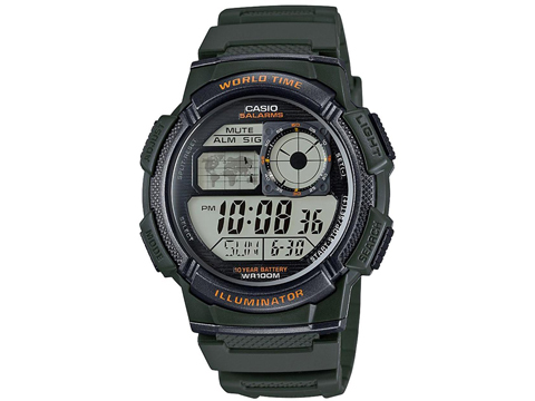 Casio Men's AE-1000W-1AVCF Resin Sport Digital Watch (Color: Green)