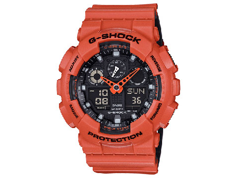 G-Shock GA-100 Military Series Watch (Color: Orange)
