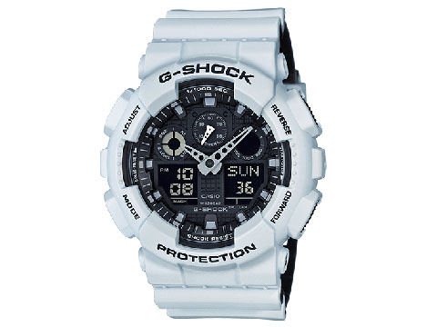 G-Shock GA-100 Military Series Watch (Color: Crystal White)