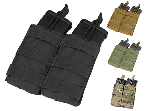 Condor Tactical Open Top Double AR15 / M4 / M16 / 5.56 NATO Magazine Pouch (Color: Black)