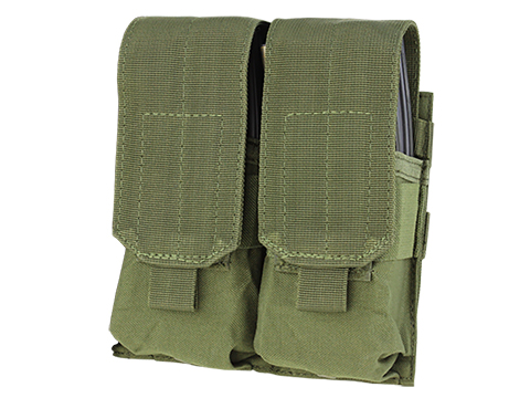 Condor Modular MOLLE Ready Tactical Double M4 M16 Magazine Pouch (Color: OD Green)