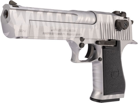 WE-Tech Desert Eagle .50 AE Full Metal Gas Blowback Airsoft Pistol by Cybergun (Color: Silver Tigerstripe)