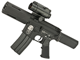Evike Custom G&P Airsoft M4 PDW AEG with SDP Kit - Black