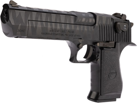 WE-Tech Desert Eagle .50 AE Full Metal Gas Blowback Airsoft Pistol by Cybergun (Color: Black Tigerstripe)