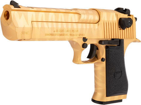 WE-Tech Desert Eagle .50 AE Full Metal Gas Blowback Airsoft Pistol by Cybergun (Color: Gold Tigerstripe)