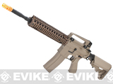 Evike Class I Custom G&G Full Metal M4 Airsoft AEG Rifle w/ Crane Stock - DD Mk18 RIS-II / Tan