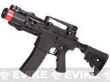 Evike Custom G&G Full Metal M4 Fighting Cat Airsoft AEG Rifle w/ LE Stock - Black
