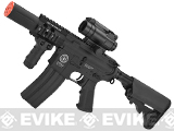 Evike Custom G&G Electric Blowback M4 Fighting Cat w/ Crane Stock Airsoft AEG Rifle - Black