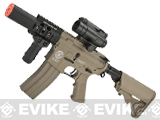 Evike Custom G&G Electric Blowback M4 Fighting Cat w/ Crane Stock Airsoft AEG Rifle - Tan