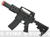 Evike Class I Custom WE Open Bolt Full Metal M4 CQB Fighting Cat Airsoft Gas Blowback GBB Rifle - Black