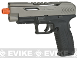 Evike Class I Custom SR-X Apache DM40 Airsoft GBB Gas Blowback Pistol - 2 Tone (Gray / Black)