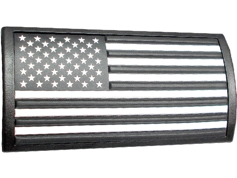 Custom Gun Rails Large PVC Rail Cover (Type: U.S. Flag / Stars Left / Keymod or M-LOK Version)
