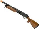 Classic Army S012P CA870 Spring Powered Shotgun with Metal Body (Version: Imitation Wood Furniture / Police Type)