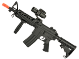 CYMA AEG Mag Compatible Full Size M4 Airsoft Spring Powered Rifle (Model: RAS-II w/ Scope)