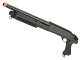CYMA Standard M870 3-Round Burst Multi-Shot Shell Loading Airsoft Shotgun (Model: Pistol Grip)