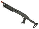 CYMA M870 3-Round Burst Multi-Shot Shell Loading Airsoft Shotgun (Model: Folding Stock CQB)