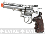 "WG CO2 Full Metal 4"" High Power Airsoft 6mm Magnum Gas Revolver (Chrome)"